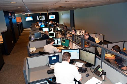 The Ancero Network Operations Center 24x7x365 located in Mount Laurel, NJ