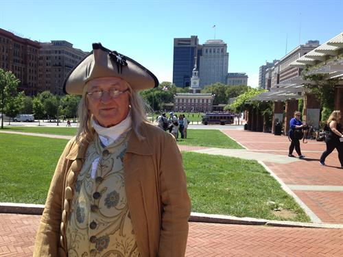 Ben Franklin in Historic Philadelphia