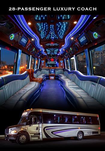 18 & 28 Passenger Luxury Coach with Amenities