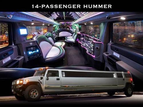 14 Passenger Stretch Hummer with Amenities