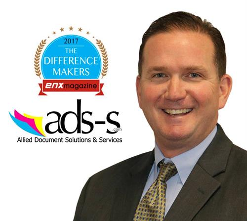 "Allied Document Solutions and Services (ads-s) is pleased to announce that Rob Richardson, their President and Founder, was named by ENX Magazine as an industry ""Difference Maker""."