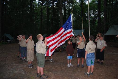 Flag Ceremony at Camp Roosevelt