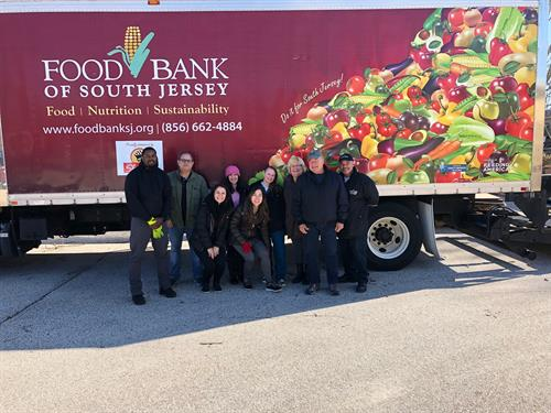 Volunteers from the 2018 Gloucester County Cares about Hunger Food Drive.