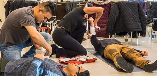 Take a Red Cross first aid / CPR course and Learn how to save a life.