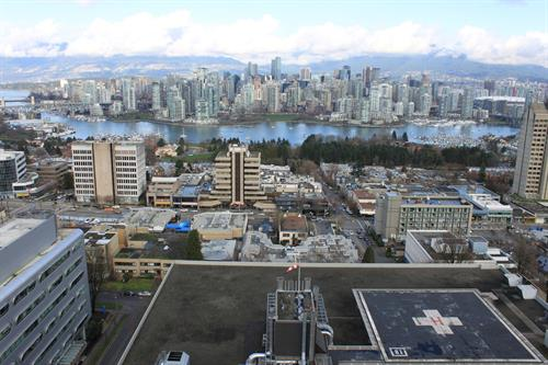 Helipad Elevator View at VGH