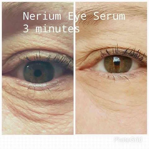 3 Minutes with Nerium's Eye Serum.