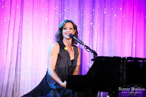 Sarah McLachlan performing at the Canadian Cancer Society's Daffodil Ball