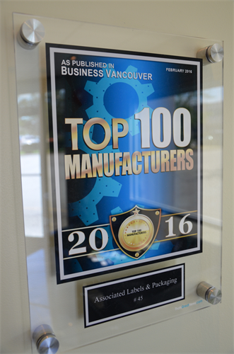 Company is awarded Top 100 Manufacturers (#45)