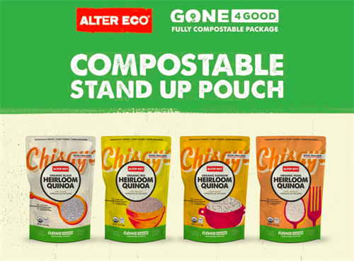 Our company developed the first non-gmo, fully backyard compostable pouch in North America