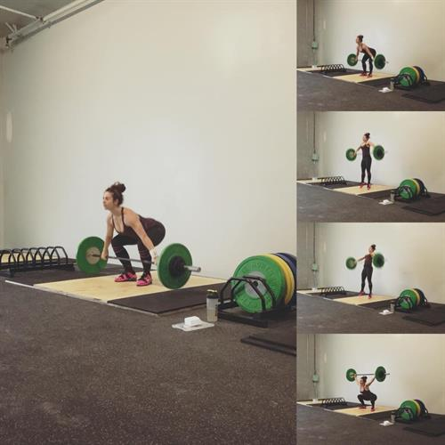 Owner Caroline Mundell testing out the new platforms at Port Coquitlam CrossFit