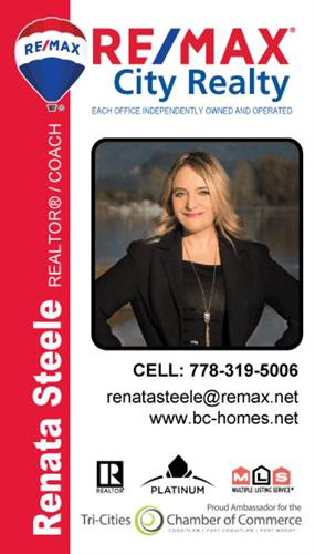 Call Renata Steele RE/MAX®  for a free Real Estate Consultations today! 778-319-5006