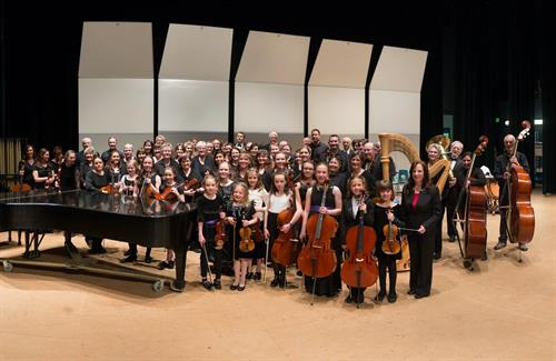 The FSO with the youth orchestra.