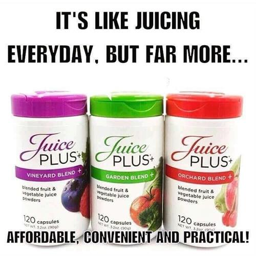 Juice Plus capsules and chews