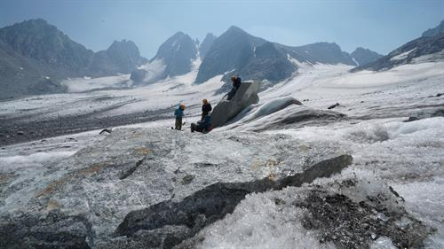 Climate Change Research at Dinwoody Glacier (photo by K. Nicholoff)