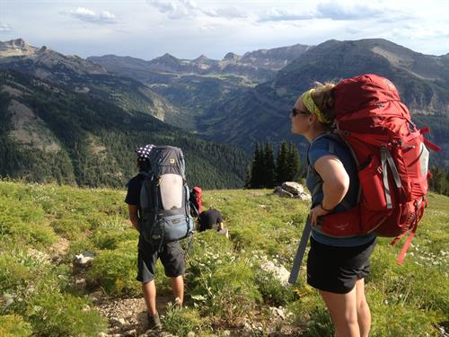 Wilderness Backpacking course in the Teton Range (photo by S. Wells)
