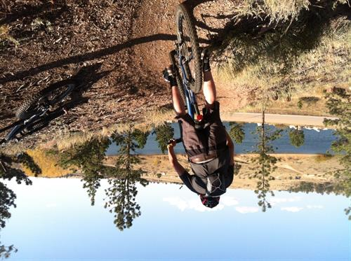 Mountain Biking Class in Curt Gowdy State Park (photo by D. Wells)