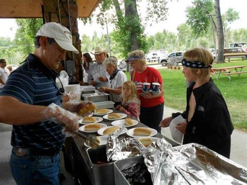 Lander Rotary hosts the annual Fourth of July Buffalo BBQ in City Park
