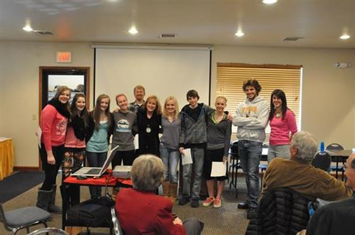 The Lander Interact club visits Lander Rotary