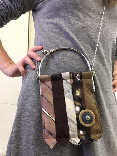 Vintage ties look better as a purse!