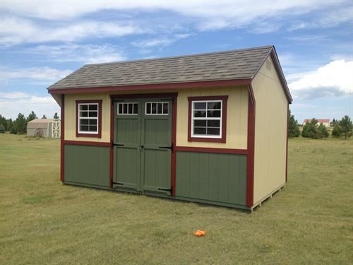 Saltbox Garden Shed with Tri-Color Paint
