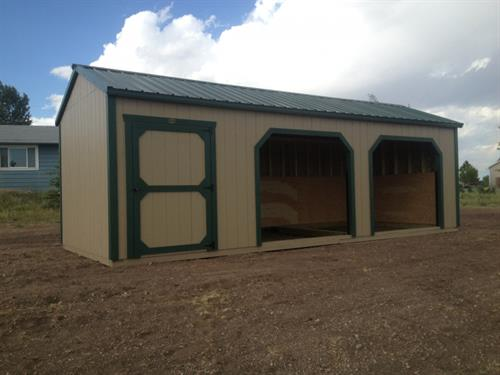 Row Barn with Separate Tack Room