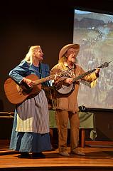 "Performing program ""Along the Oregon Trail"""