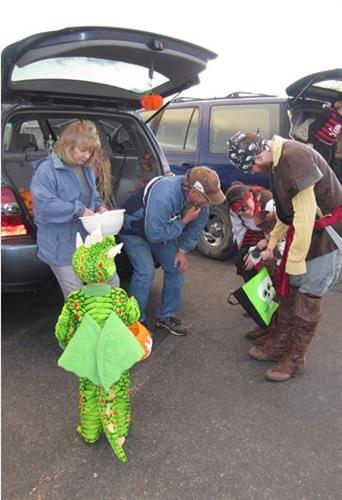 Annual trunk-or-treat at the Lander Senior Center