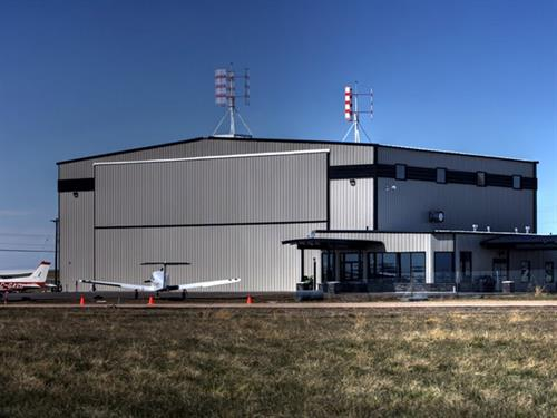 Super T Aviation hangar at Medicine Hat Airport