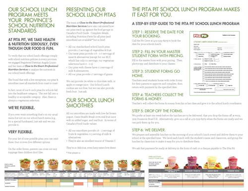 School Lunch brochure 2017 - inside