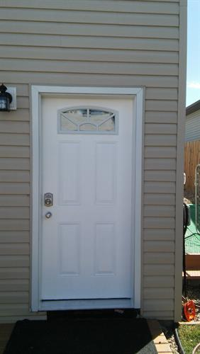 Entrance door after