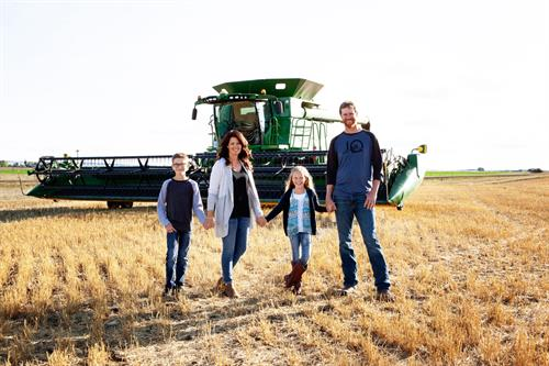 Raising a farm family with pride and passion in Agriculture.