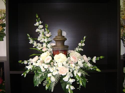 Silk Urn display