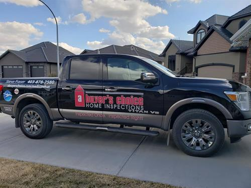Truck decals by Titanium Sign and Design