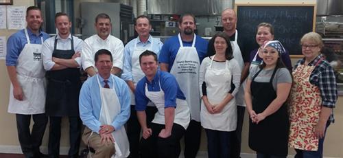 St. Vincent's Service Project Serving Lunch