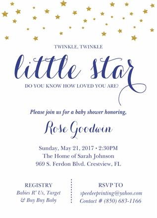 Let Speedee Printing Design Your Baby Shower Invitations