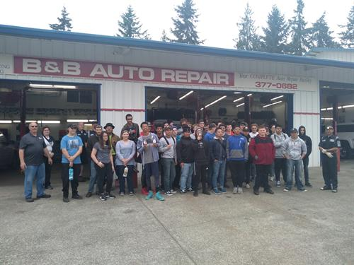 The Automotive Class from West Sound visit