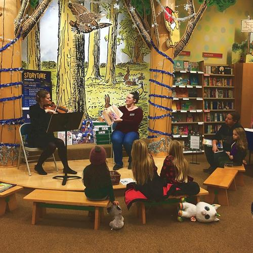 2019 - Barnes and Noble Book Fair - Christie Becker in Violin and Ann Jacobs