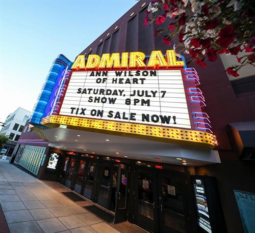 The Admiral Theatre presents world-class live entertainment to more than 50,000 patrons annually and has welcomed some of the biggest names in music, comedy, broadway and more.