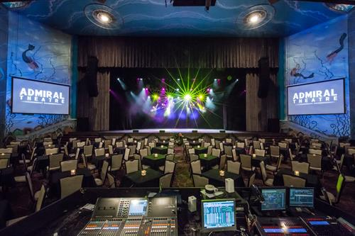 Bremerton's Admiral Theatre features professional sound and lighting equipment to suit any event, including a Meyer Leopard Line Array speaker system and all new digital sound consoles.
