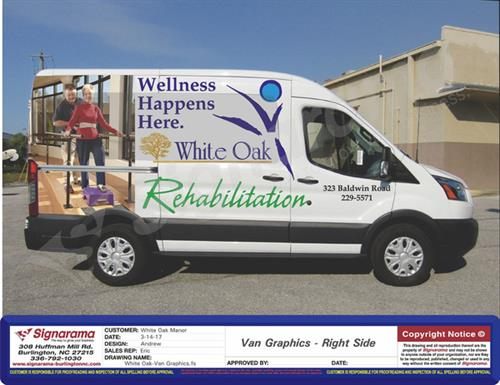 White Oak Wheelchair Van for Residents