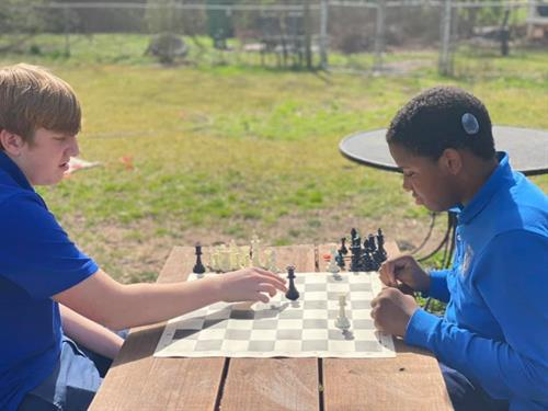 Upper Campus Students during Chess Elective