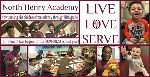 North Henry Academy is now enrolling for our 2019-2020 school year.