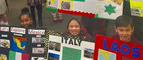 NHA's Multicultural Day is a school wide celebration of diversity in which students select a country to represent,  research and share with others.