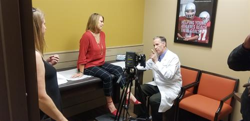 Doctors Bio & Clinic Videos.  (Dr. Todd Schmidt of Ortho Atlanta on set for Bio Video)