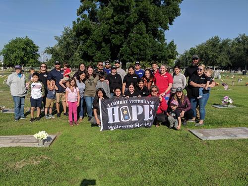 Helping out at the Visalia Cemetery for Memorial Day Weekend
