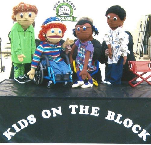 """Kids on the Block"" puppeteers help address social issues with 3rd & 4th grade students."