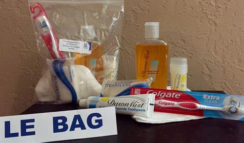 """Le Bag"" hygiene kits delivered to each Operation School Bell student."