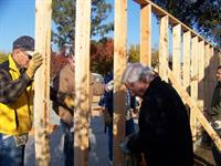 Raising walls in Tulare