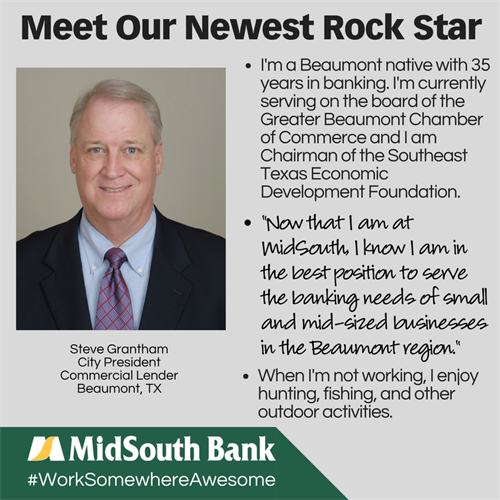 Steve Grantham, Beaumont City President, has been working somewhere awesome since 2017.
