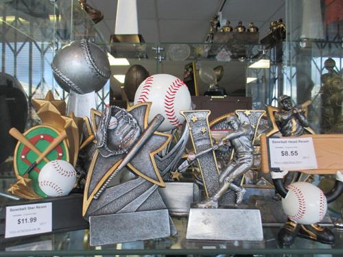 Sports resin trophies